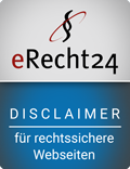 Disclaimer Siegel E-Recht24